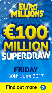 EuroMillions Superdraw Friday 30th June 2017