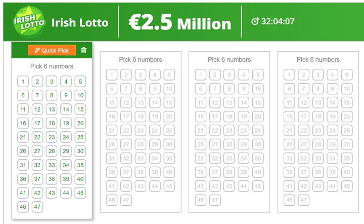 Irish lottery online ladbrokes betting no betting