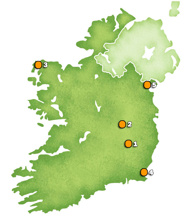 Lucky Lottery Locations Map