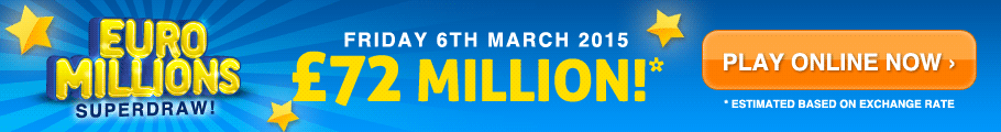 EuroMillions Superdraw - Friday 6th March 2015